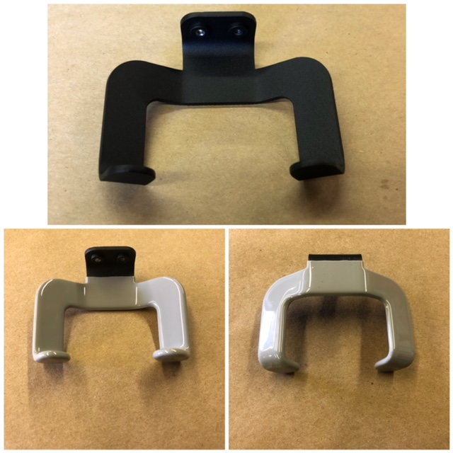 Cable Holder with Grey Plastisol - Before & After